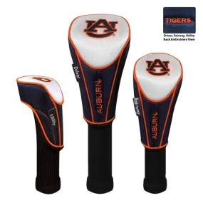 Auburn Tigers Set of 3 Golf Club Headcovers