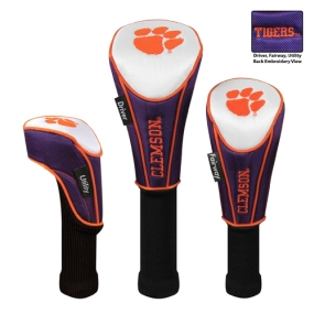 Clemson Tigers Set of 3 Golf Club Headcovers
