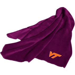 Virgina Tech Hokies Fleece Throw Blanket