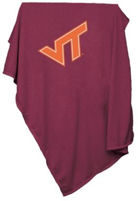 Virgina Tech Hokies Sweatshirt Blanket