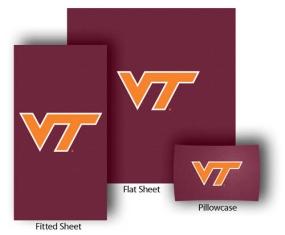 Virginia Tech Hokies Full-Queen Size Sheet Set