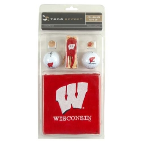 Wisconsin Badgers Golf Gift Set