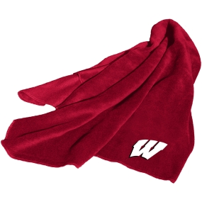 Wisconsin Badgers Fleece Throw Blanket
