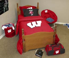 Wisconsin Badgers Queen Size Bedding In A Bag