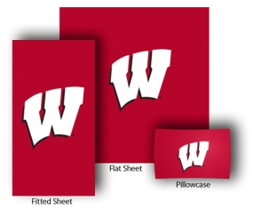 Wisconsin Badgers Full-Queen Size Sheet Set