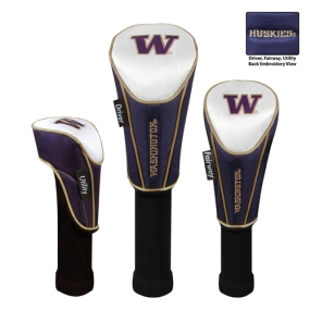 Washington Huskies Set of 3 Golf Club Headcovers