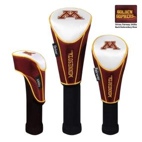 Minnesota Golden Gophers Set of 3 Golf Club Headcovers