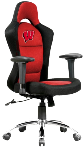 Wisconsin Badgers Sports Bucket Seat Office Chair