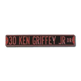30 KEN GRIFFEY JR DR black Street Sign