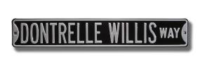 DONTRELLE WILLIS WAY Street Sign