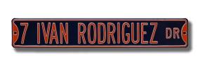 7 IVAN RODRIGUEZ DR Street Sign