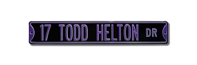 17 TODD HELTON DR Street Sign