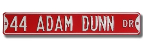 44 ADAM DUNN DR Street Sign