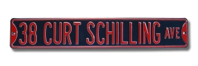 38 CURT SCHILLING AVE Street Sign