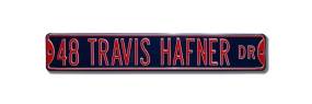 48 TRAVIS HAFNER DR Street Sign