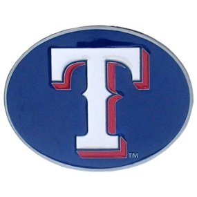 TX Rangers Logo Belt Buckle