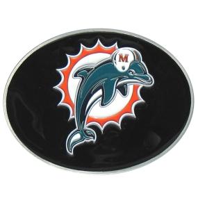 Dolphins Logo Belt Buckle