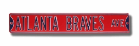 ATLANTA BRAVES AVE Street Sign