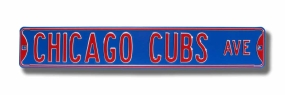 CHICAGO CUBS AVE Street Sign
