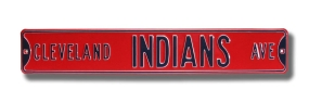 CLEVELAND INDIANS AVE Street Sign