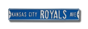 KANSAS CITY ROYALS AVE Street Sign