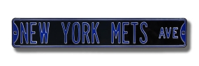 NEW YORK METS AVE black Street Sign