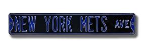 NEW YORK METS AVE black Street Sign