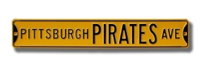PITTSBURGH PIRATES AVE Street Sign
