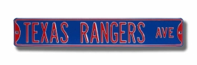 TEXAS RANGERS AVE Street Sign