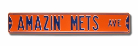 AMAZIN' METS AVE Street Sign