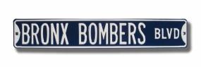 BRONX BOMBERS BLVD Street Sign