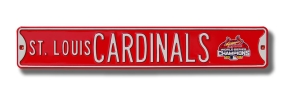 ST. LOUIS CARDINALS with WS 2006 logo Street Sign