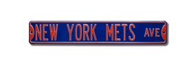 NEW YORK METS AVE blue Street Sign