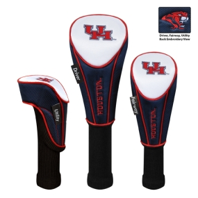 Houston Cougars Set of 3 Golf Club Headcovers
