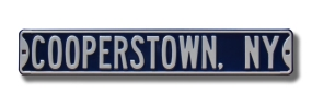 COOPERSTOWN, NY Street Sign