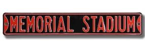 MEMORIAL STADIUM Street Sign
