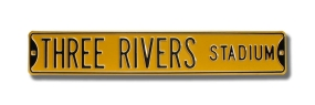 THREE RIVERS STADIUM Street Sign