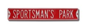 SPORTSMAN'S PARK Street Sign