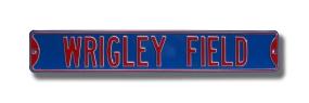 WRIGLEY FIELD Blue Street Sign