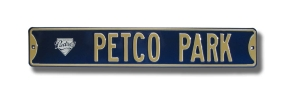PETCO PARK with Padres logo Street Sign