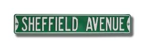 SHEFFIELD AVENUE Street Sign