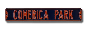 COMERICA PARK Street Sign