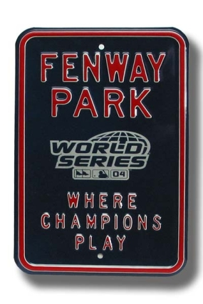 FENWAY PARK with WS logo Parking Sign
