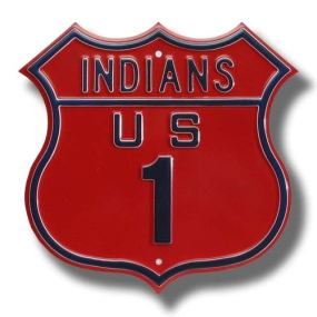 INDIANS US 1 Route Sign