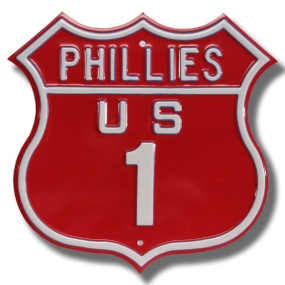 PHILLIES US 1 Route Sign