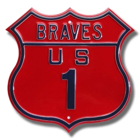 BRAVES US 1 Route Sign