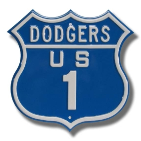 DODGERS US 1 Route Sign