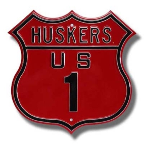 HUSKERS US 1 Route Sign