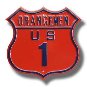 ORANGEMEN US 1 Route Sign