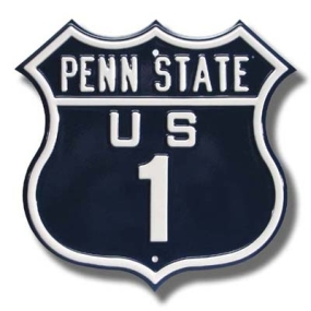 PENN STATE US 1 Route Sign